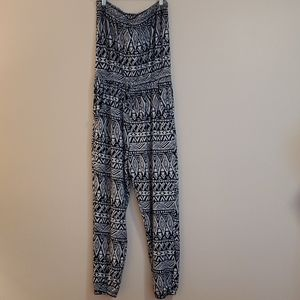 """Just Be"" tube top jumpsuit size L"